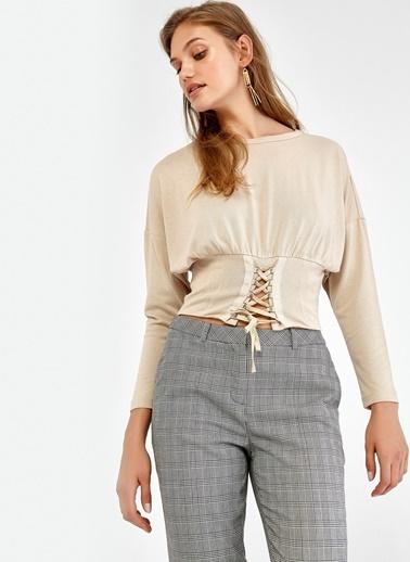 Korse Detaylı Uzun Kol Bluz-Ipekyol